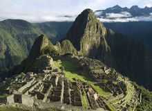 Typical view of Machu Picchu, Peru. Typical view of Inca City of Machu Picchu, Peru Royalty Free Stock Photos