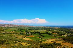 Typical view over the Vaucluse, Provence, France. Royalty Free Stock Images