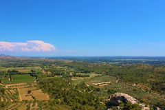 Typical view over the Vaucluse, Provence, France. royalty free stock photos