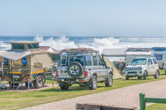 Typical view at the rest camp at Storms River Mouth Stock Photo