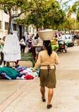 A typical view in San Salvador in El Salvador. San Salvador. February 2018. A street scene in San Salvador in El Salvador royalty free stock photography