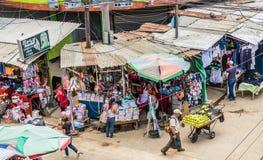 A typical view in San Salvador, El Salvador. San salvador, El salvador. January 2018. A typical street view in San Salvador, El Salvador royalty free stock photo