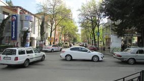 A typical view of the streets of the resort city, Sochi. royalty free stock photography