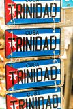 A typical view in Trinidad in Cuba stock photography