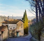 Typical View of Tuscany village near Florence Royalty Free Stock Image