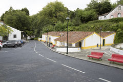 Typical view of the village, Azores Royalty Free Stock Image