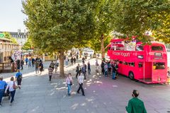A typical view in Westminster in London royalty free stock photo