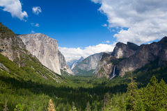 The typical view of the Yosemite Valley Royalty Free Stock Images