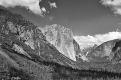 The typical view of the Yosemite Valley Stock Photos