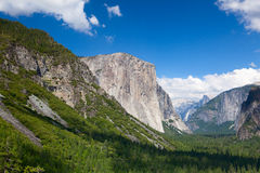 The typical view of the Yosemite Valley Royalty Free Stock Photo