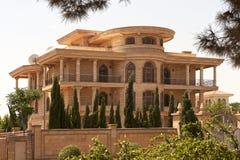 Baku. Typical villa in Baku in Azerbaijan Royalty Free Stock Images