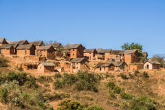 Typical village. Of Malagasy highlands near Ampefy, Madagascar Royalty Free Stock Photography