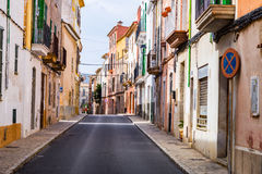 A typical village alley in majorca, soller. (spain Stock Images