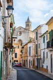 A typical village alley in majorca, soller Royalty Free Stock Photos