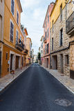 A typical village alley in majorca, soller Stock Image