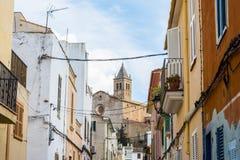 A typical village alley in majorca, soller. (spain Stock Photos