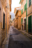 A typical village alley in majorca, soller Stock Images