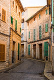A typical village alley in majorca, soller Stock Photography
