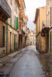 A typical village alley in majorca, soller. (spain Royalty Free Stock Image