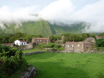 Typical village in Azores (Portugal) Royalty Free Stock Photo