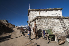 Typical village buildings Muktinath Royalty Free Stock Image