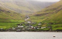 Typical village on Faroe islands. Stock Photo
