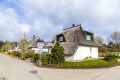 Typical village house with reed Stock Image