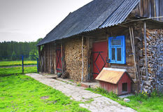 A typical village house and yard Stock Image