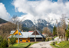 Typical village near High Tatras Royalty Free Stock Image