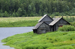 Typical village in the north of Russia Royalty Free Stock Image
