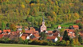 Typical Village,Rhoen,Germany Royalty Free Stock Photo
