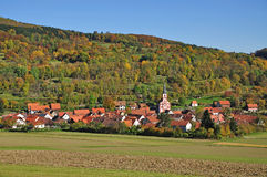 Typical Village,Rhoen,Germany Stock Photo