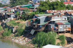 Typical village in southeastern Asia Royalty Free Stock Image