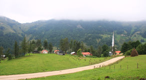 Typical village in Trabzon Royalty Free Stock Image