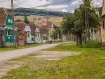 Typical village. In Transylvania,Romania Royalty Free Stock Photos