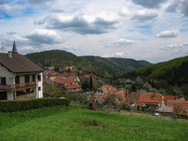 Typical village in the Vosges Stock Photography