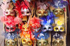 Typical vintage venetian masks, Venice, Italy Stock Photo