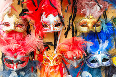 Typical vintage venetian masks, Venice, Italy Royalty Free Stock Images