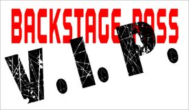 VIP BackStage Pass Over A White Background. A typical VIP back stage pass badge royalty free illustration
