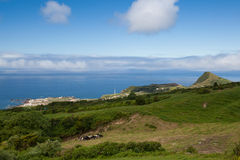 Typical volcanic landscape on Terceira island Stock Photography