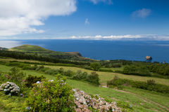 Typical volcanic landscape on Terceira island Stock Image