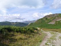 Typical walking track, Lake District Stock Images