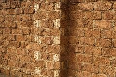 Typical wall with big limestone blocks Royalty Free Stock Photo