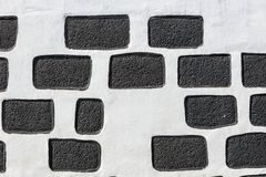 Typical wall made seamless from volcanic stone Royalty Free Stock Photos