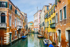Typical water canal in Venice Stock Image