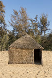 Typical West-African hut with a straw roof Royalty Free Stock Photos