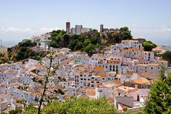Typical white andalusian village. In mountain Stock Photos