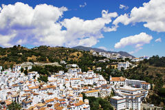 Typical white andalusian village. In mountain Royalty Free Stock Images