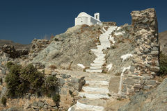 Typical White Church In Serifos Island royalty free stock image