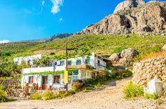 Typical white greek house, Kalymnos, Greece Stock Photo